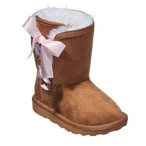 Rampage Shoes - Faux Suede Fur Boots Toddler Girls Size 7M Rampage